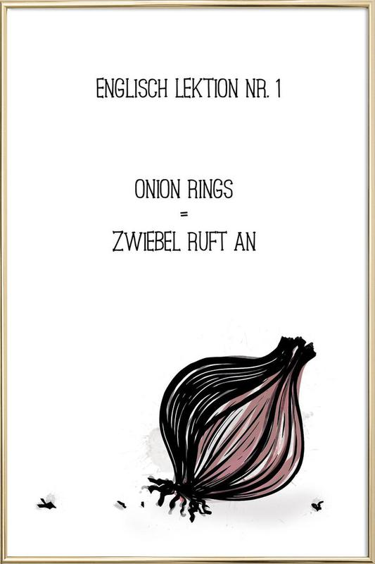 Onion -Poster im Alurahmen
