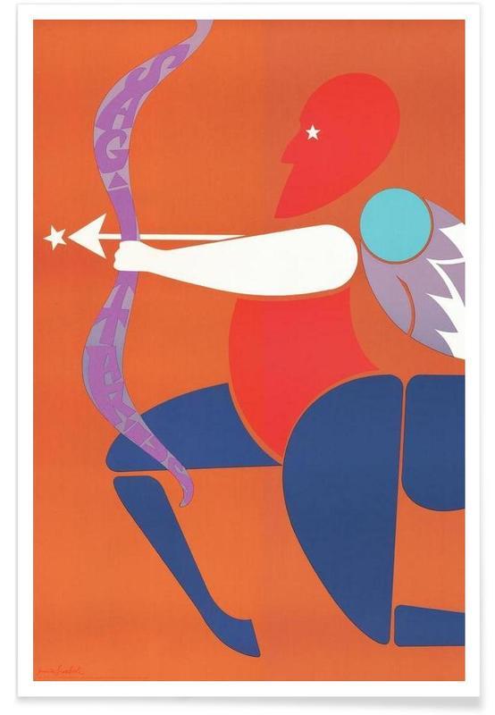 Vintage Sagittarius Poster
