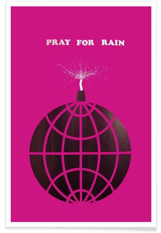 Vintage Pray for Rain Poster