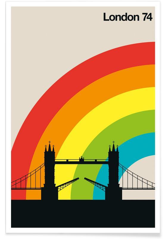 Londres 74 vintage affiche