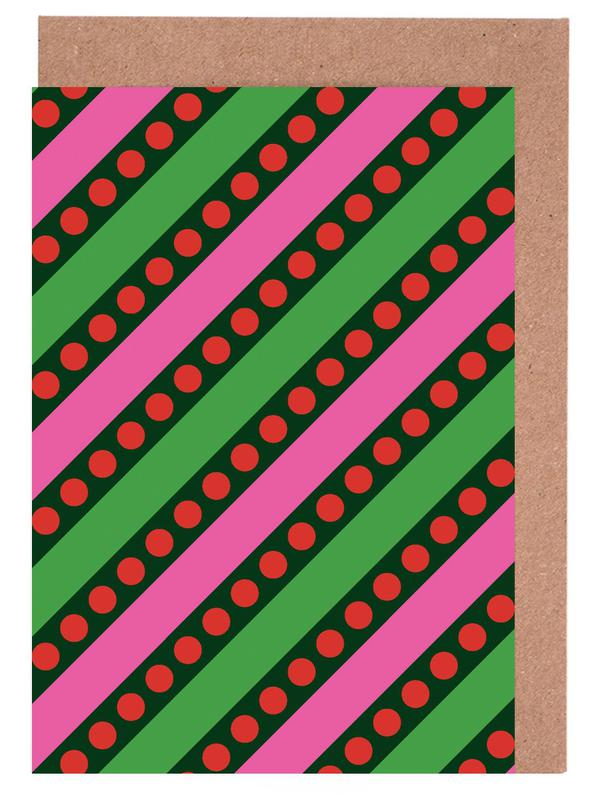 Stripes And Bubbles Greeting Card Set