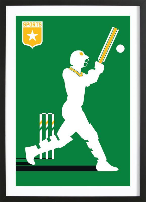 Cricket -Bild mit Holzrahmen