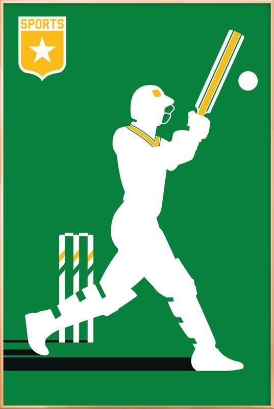 Cricket Poster in Aluminium Frame