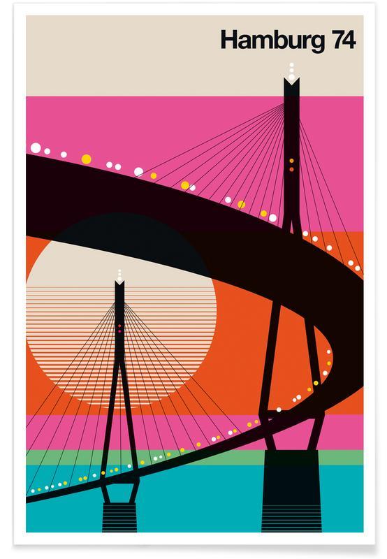 Vintage-Hamburg 74 -Poster