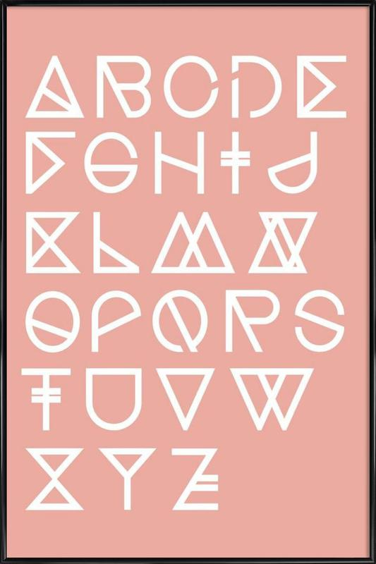 Geometrical ABC - blush Framed Poster