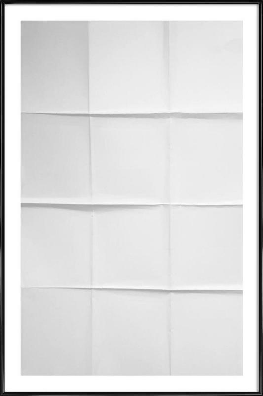 Paper Grid Framed Poster