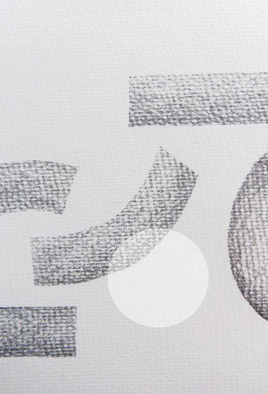 Minimal Abstract Charcoal Acrylic Print