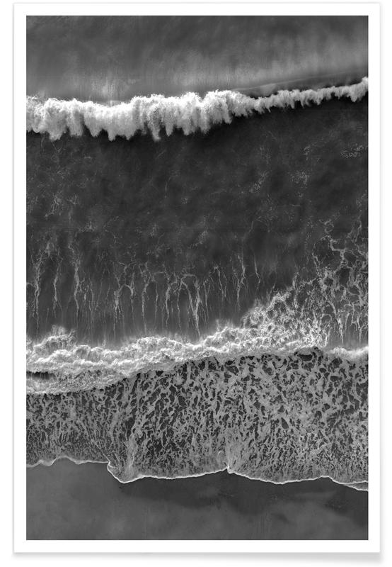 Black and White Beach Poster