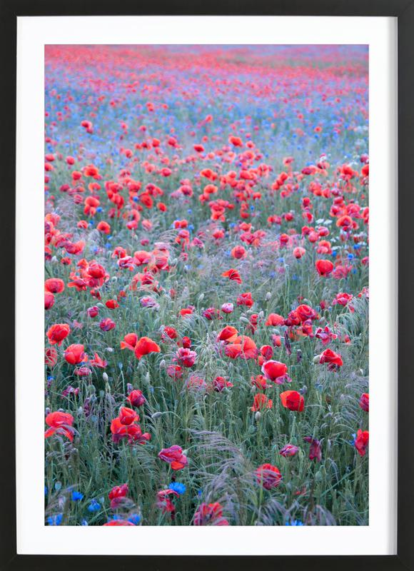 Poppy Seed Heaven -Bild mit Holzrahmen