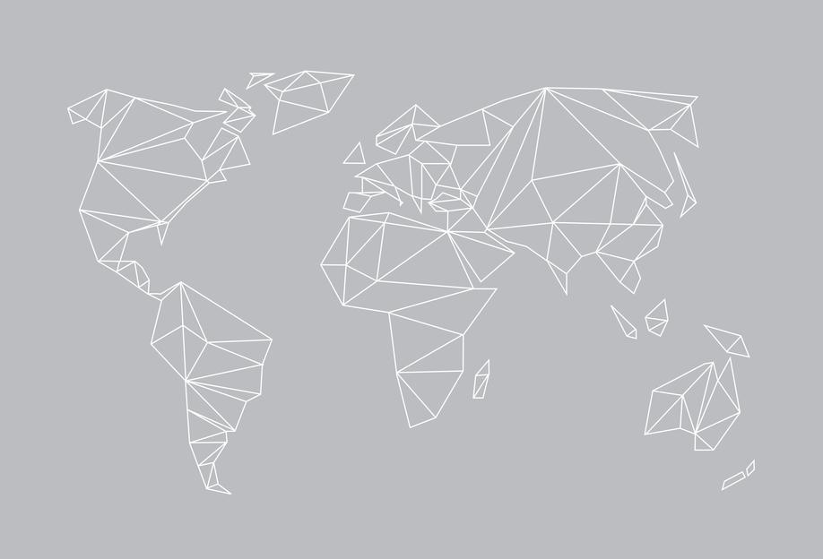 Geometrical World Grey Acrylic Print