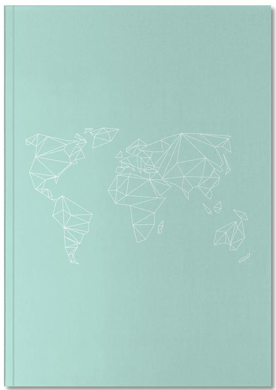 Geometrical World Green Notebook