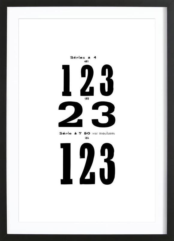 123 ingelijste print