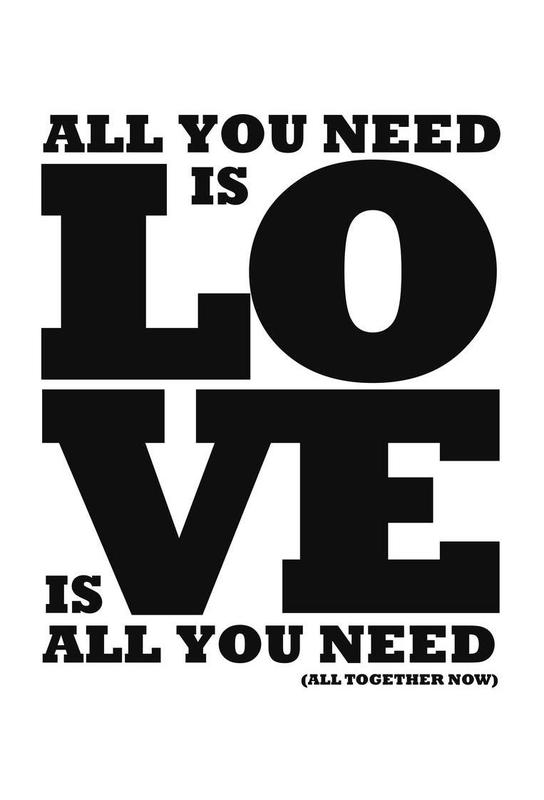 All you need is love Aluminium Print