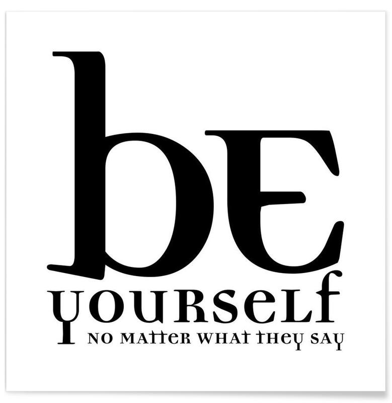 Be yourself affiche
