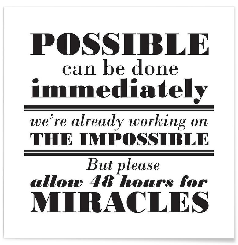 Possible Impossible Miracles affiche