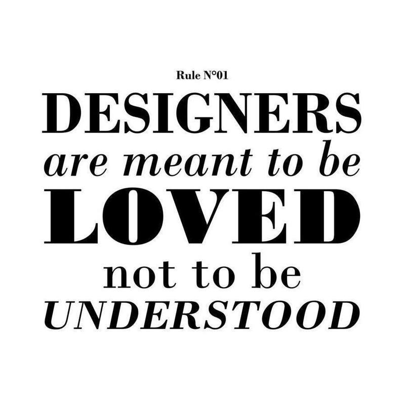 Rule 01 - Designer are meant.. canvas doek