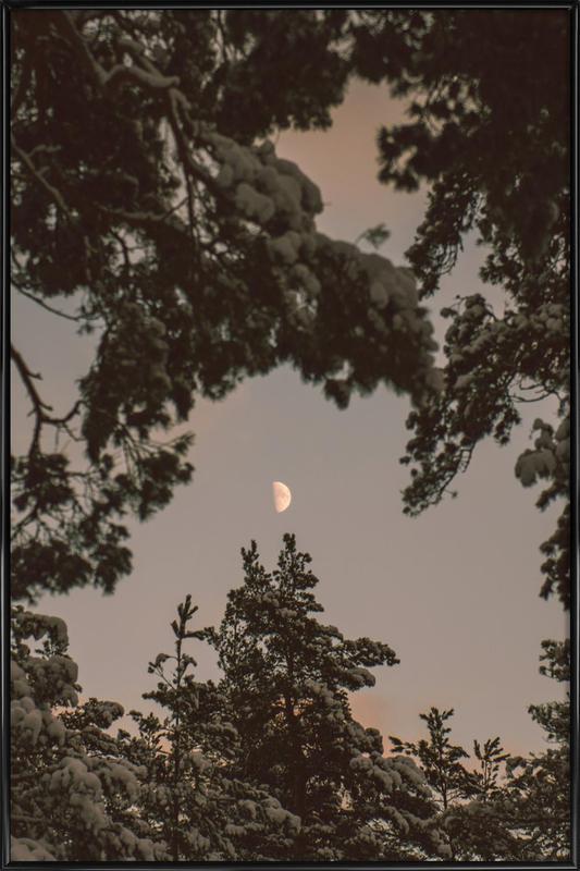The Moon -Bild mit Kunststoffrahmen