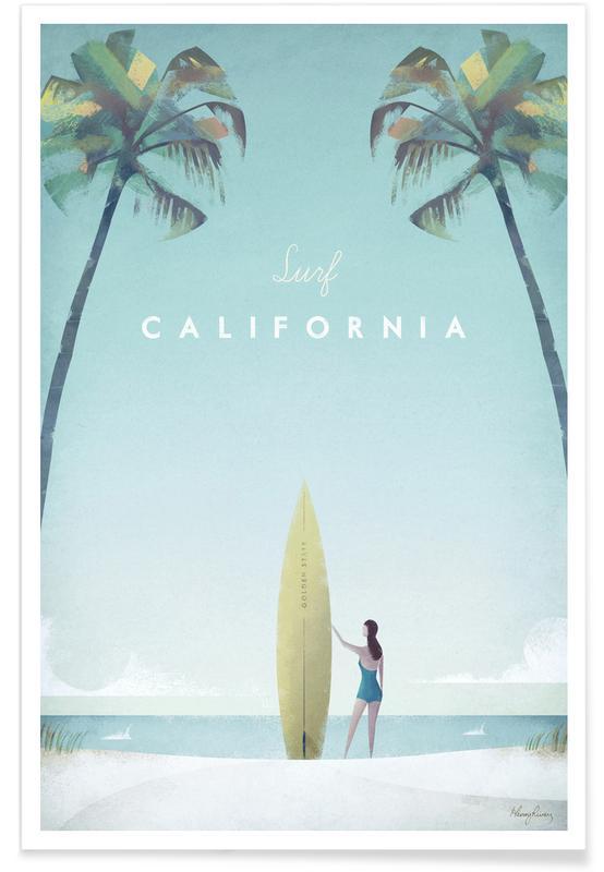 Californie vintage - Voyage affiche