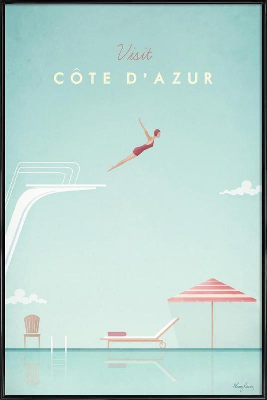 Côte d'Azur affiche encadrée