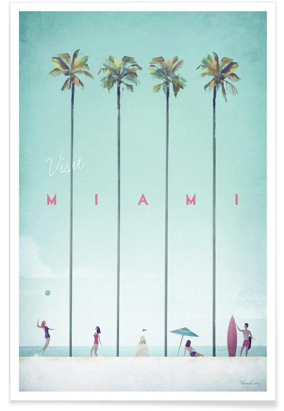 Vintage Miami Travel póster