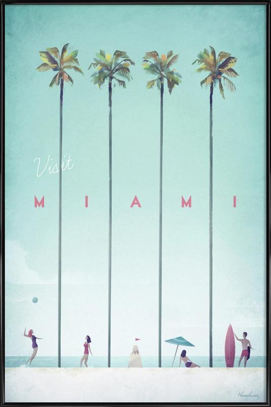 Miami affiche encadrée