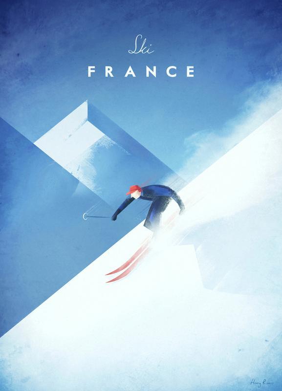 Ski France -Leinwandbild