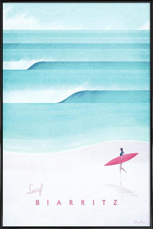 Biarritz affiche encadrée