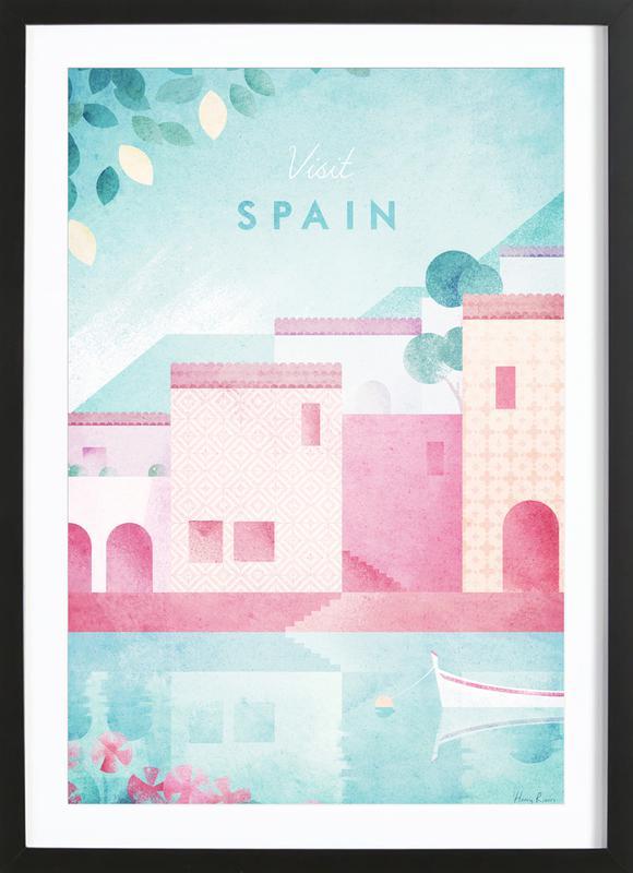 Spain affiche sous cadre en bois