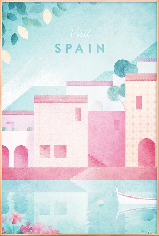 Spain -Poster im Alurahmen