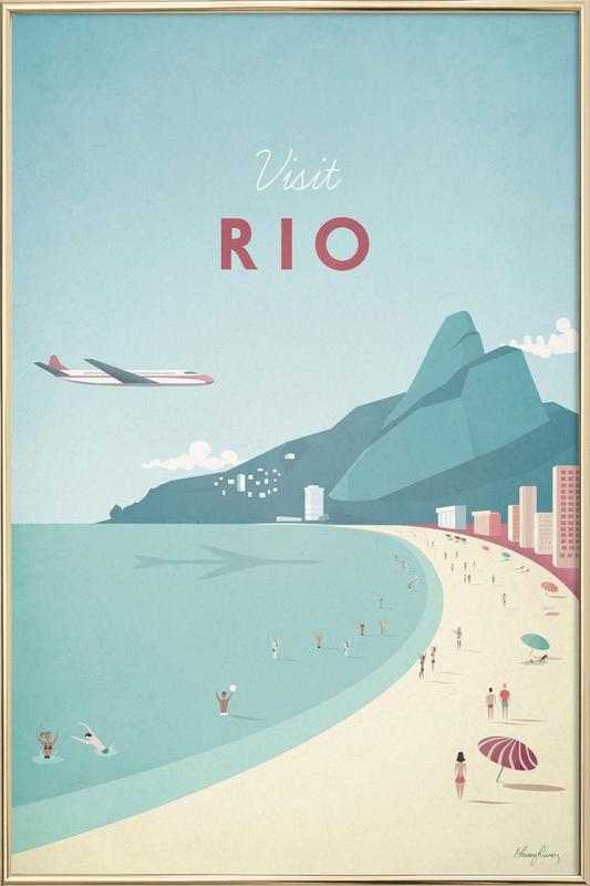 Rio poster in aluminium lijst