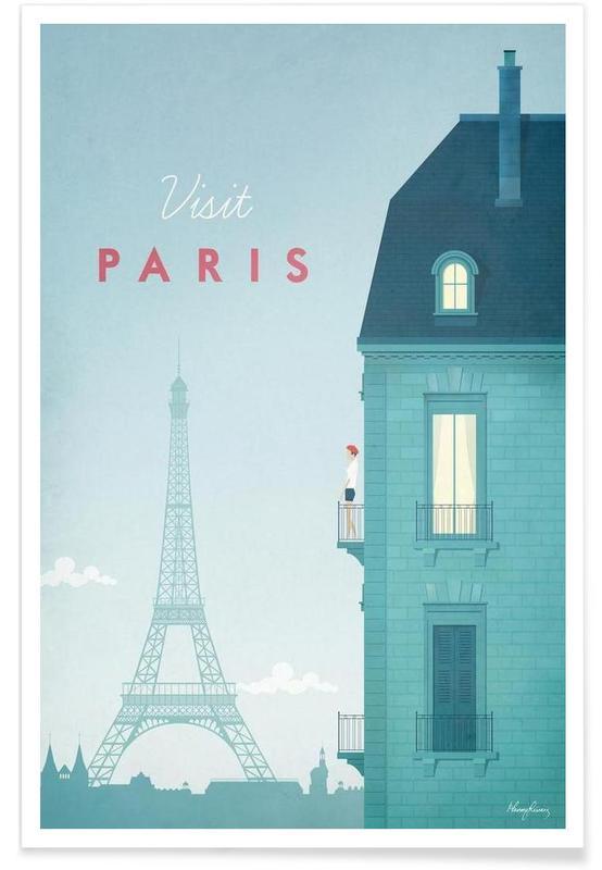 Vintage-Paris-Reise -Poster