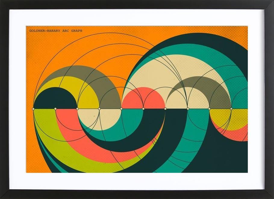 Goldner-Harary Graph Framed Print