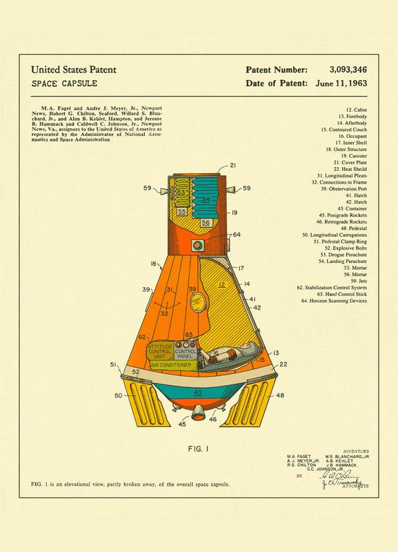 Space Capsule -Leinwandbild