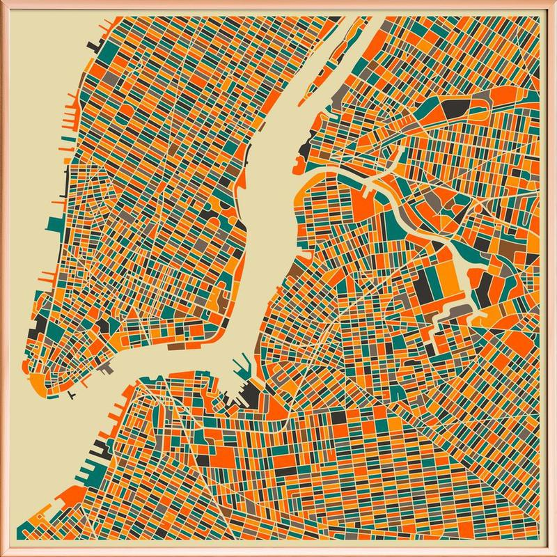 New York -Poster im Alurahmen