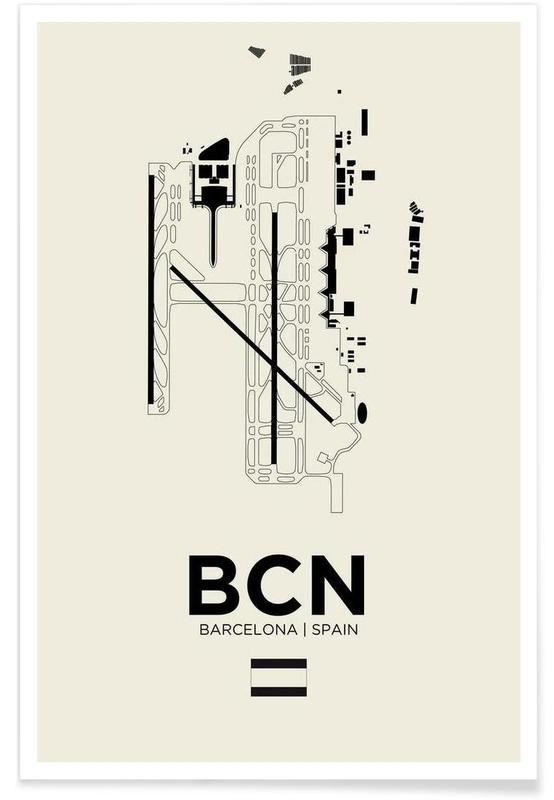 BCN Airport Barcelona -Poster
