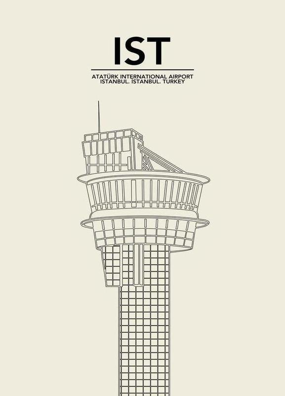 IST Istanbul Tower Canvas Print
