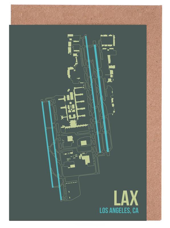 LAX Airport Los Angeles -Grußkarten-Set