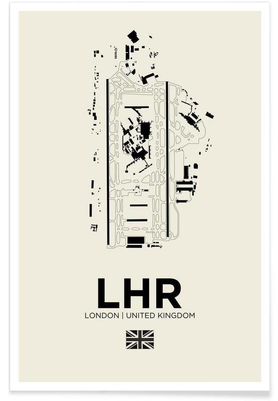 LHR London-Flughafen -Poster