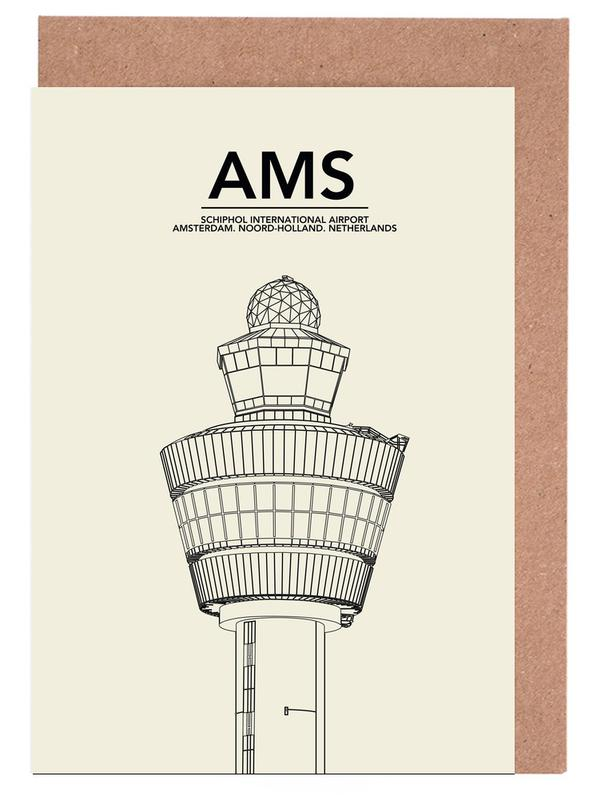 AMS Amsterdam Tower -Grußkarten-Set