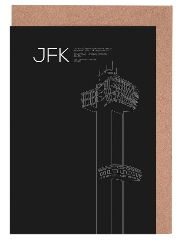 JFK New York Tower Black -Grußkarten-Set