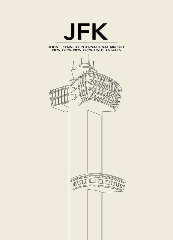 JFK New York Tower toile