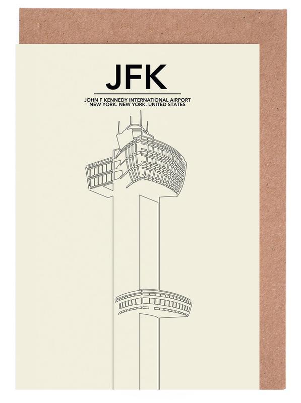 JFK New York Tower -Grußkarten-Set