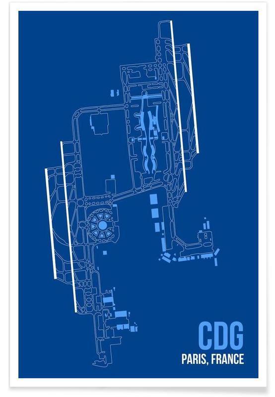 CDG Paris-Flughafen -Poster