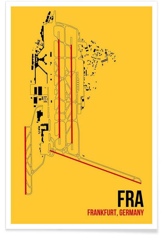 FRA Airport Frankfurt Poster