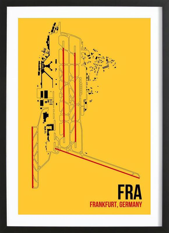 FRA Airport Frankfurt Framed Print