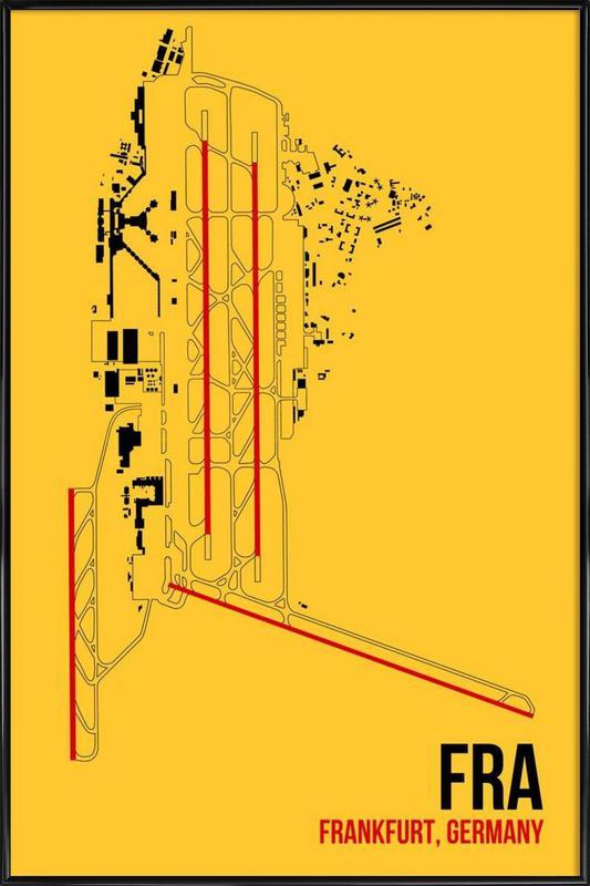 FRA Airport Frankfurt Framed Poster