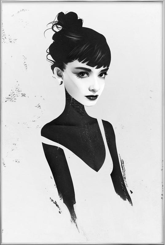 Oh, Audrey poster in aluminium lijst