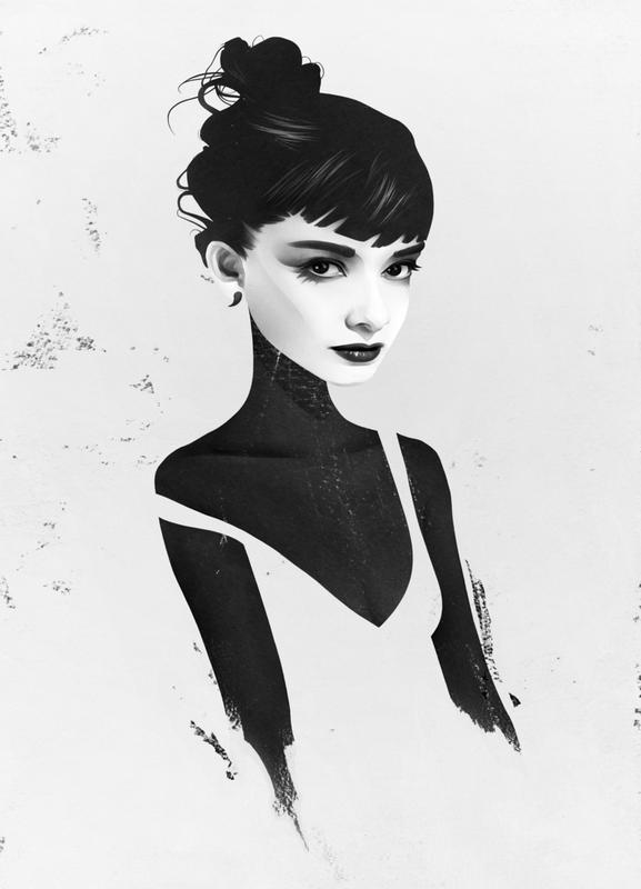 Oh, Audrey canvas doek