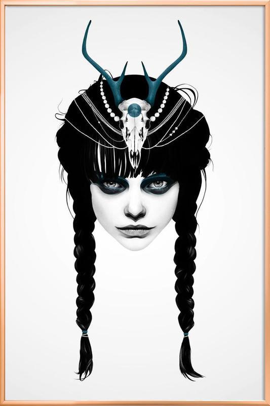 Wakeful Warrior -Poster im Alurahmen