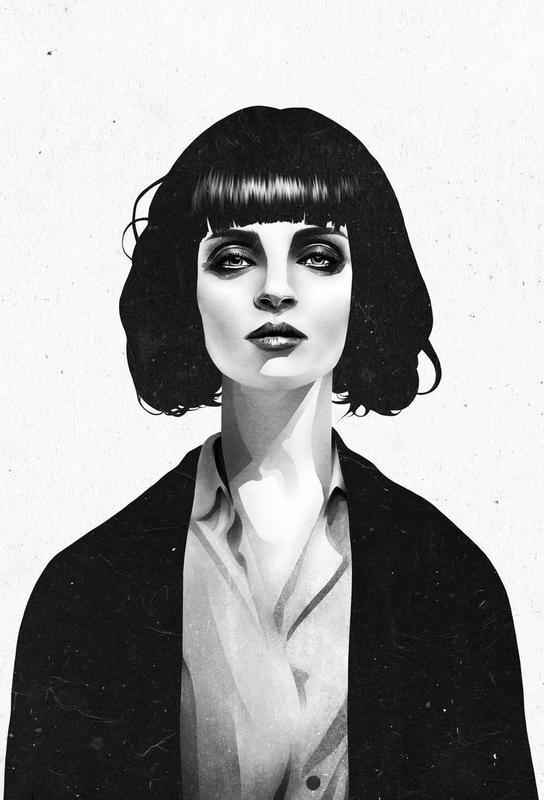 Mrs Mia Wallace -Acrylglasbild